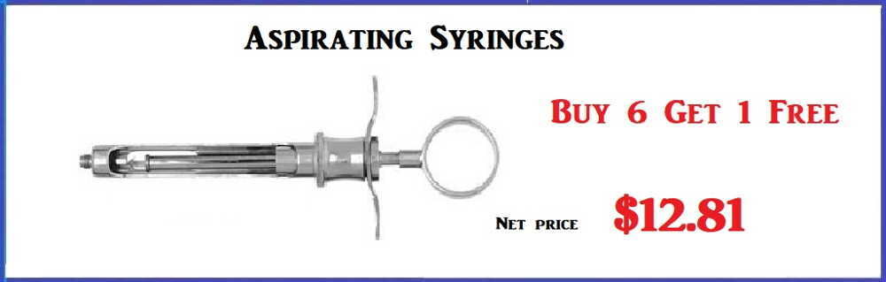 Aspirating Syringes