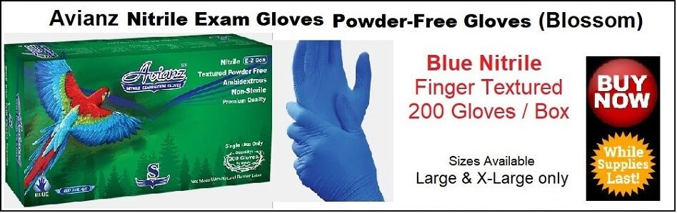 Avianz Nitrile Gloves - Blossom