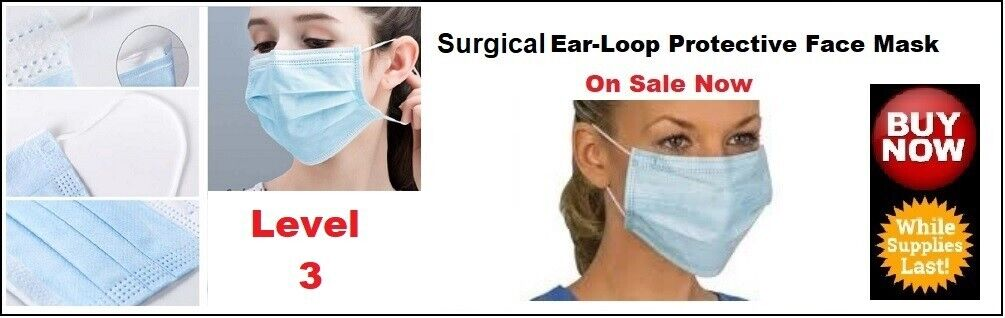 Ear-Loop Protective Face Masks Level 3