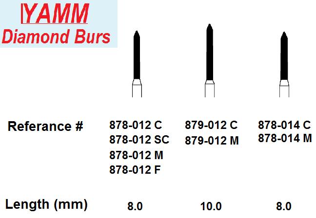 Diamond Burs - Beveled Cylinder (Yamm)