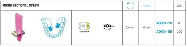 Expansion Micro Sectional Screw - Leone