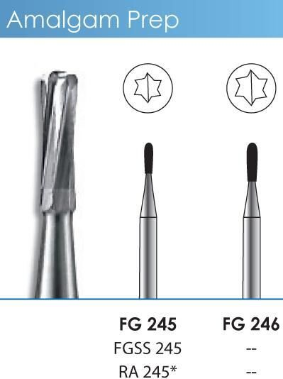 Amalgam Preparation Short Shank Carbide Burs - Kerr