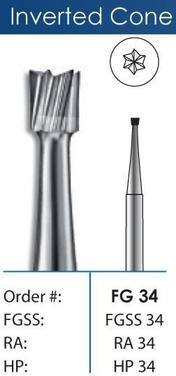 Inverted Cone Short Shank Carbide Burs