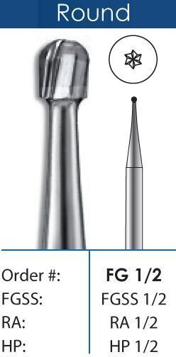 Round Short Shank Carbide Burs