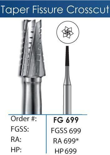 FG Tapered Fissure Crosscut Carbide Burs