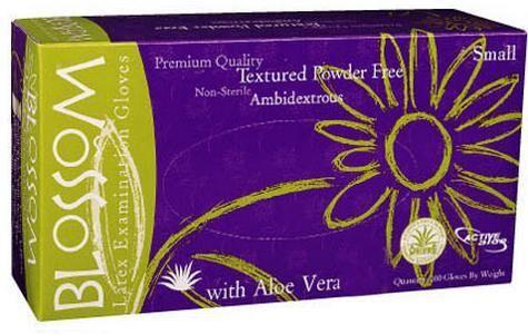 Latex Exam Gloves Powder Free with Aloe Vera (Blossom)