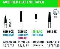 NeoDiamond Modified Taper Flat End Diamond Burs - Microcopy