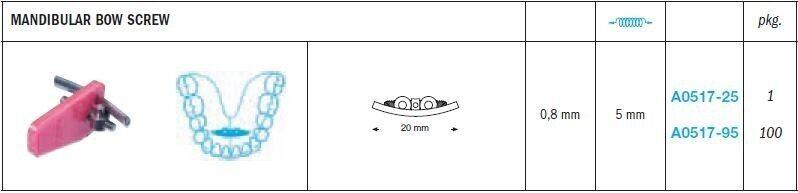 Mandibular Bow Expansion Screws - Leone