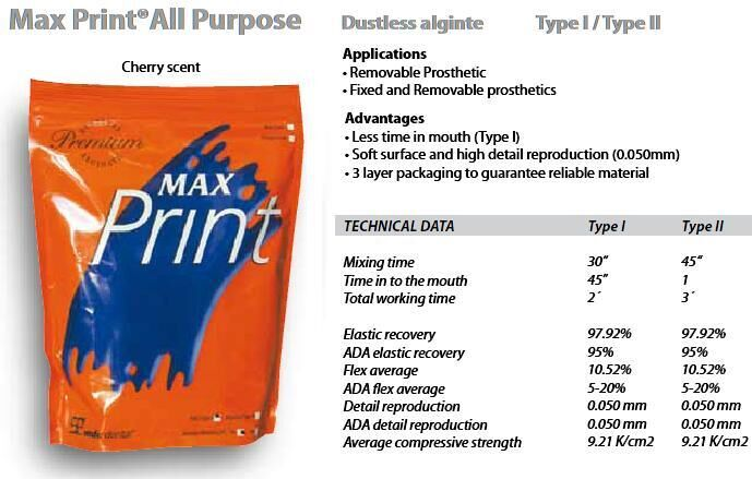 Max Print Alginate Dustless (MDC)