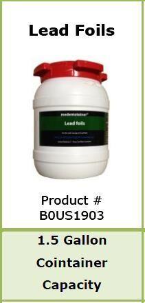 Medentotainer Waste X-Ray Lead Foils - Medentex