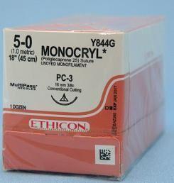 Monocryl Undyed Sutures - Ethicon