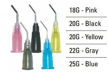 Pre-bent Needle Tips