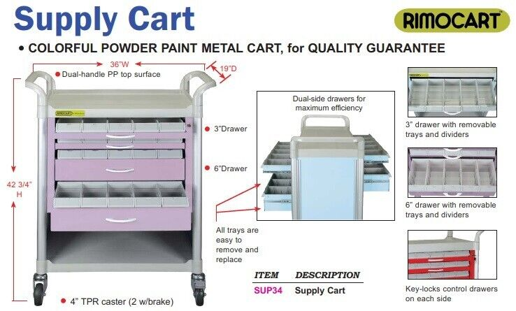 RimoCart Dental Supply Cart