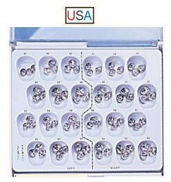Stainless Steel Primary Molar Crown Kits (DA)