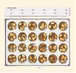 Gold Anodized Aluminum Crowns (DA)