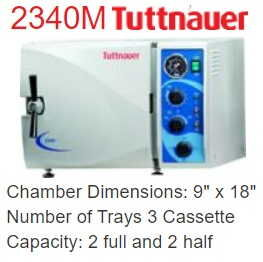 Autoclave Unit - Tuttnauer 2340M