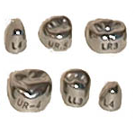 Stainless Steel Second Primary Molar Crowns - DSC