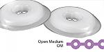 Tuff Chain Elastomeric Chain Open Medium Clear Spool (Dentsply)
