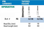 NeoBur FG Tapered Fissure Carbide Burs - Microcopy