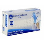 Nitrile Blue Exam Powder-Free Gloves - Diamond