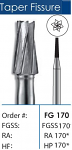 FG Tapered Fissure Long Carbide Burs