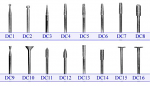 Diamond Coated Burs HP Shank