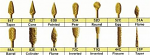 Titanium Nitrite Coated Carbide Burs HP Shank