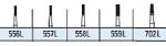 FG Surgical Straight Fissure Crosscut Carbide Burs (Kerr)
