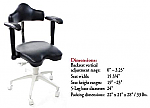Mirage doctor's stool with armrests - TPC