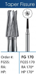 FG Tapered Fissure Short Shank Carbide Burs