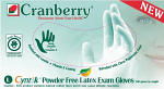 Cyntek Powder Free Latex Gloves - Cranberry