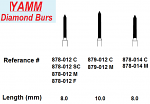 Diamond Burs - Beveled Cylinder - Yamm