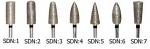 Sintered Diamond Burs HP Shank - Metal