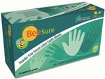 BeeSure Powder Free Green Latex Gloves - Ecobee