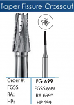 FG Tapered Fissure Crosscut Carbide Burs