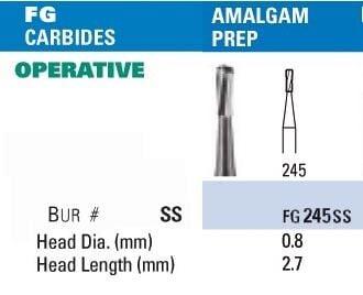 NeoBur FGSS Amalgam Prep. Carbide Burs - Microcopy